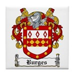 Burges Coat of Arms Tile Coaster