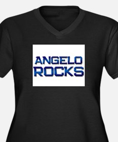 angelo rocks Women's Plus Size V-Neck Dark T-Shirt