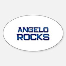 angelo rocks Oval Decal