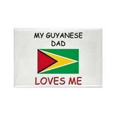 My GUYANESE DAD Loves Me Rectangle Magnet