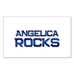 angelica rocks Rectangle Decal