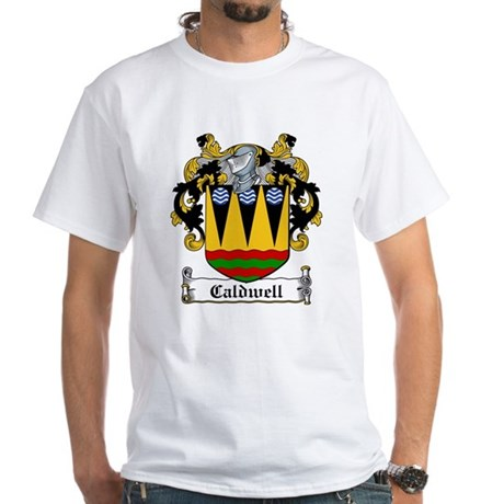 Caldwell Coat of Arms White T-Shirt