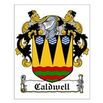 Caldwell Coat of Arms Small Poster