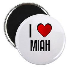 """I LOVE MIAH 2.25"""" Magnet (10 pack)"""