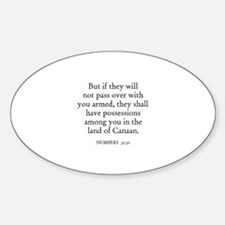 NUMBERS 32:30 Oval Decal
