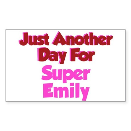 Another Day Emily Rectangle Sticker
