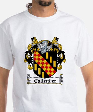 Callender Coat of Arms White T-Shirt
