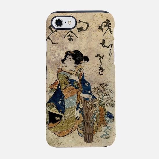 Vintage Japanese Art Woman iPhone 7 Tough Case