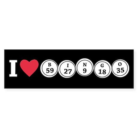 I <3 Bingo Bumper Sticker