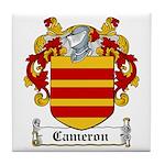 Cameron Coat of Arms Tile Coaster
