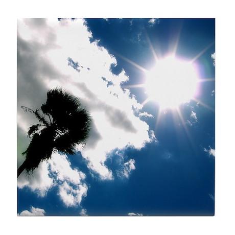 Palm Tree & Sun Tile Coaster