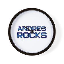 andres rocks Wall Clock