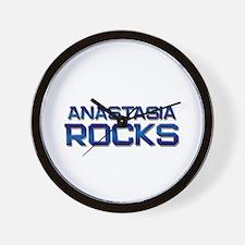 anastasia rocks Wall Clock