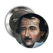 Writer Edgar Allan Poe Button