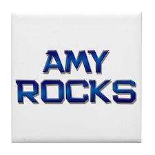 amy rocks Tile Coaster