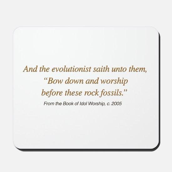Rock Fossil Worship Mousepad