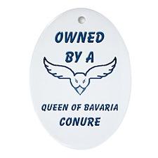 Queen of Bavaria Conure Oval Ornament
