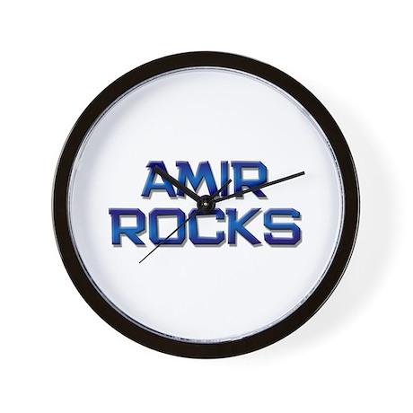 amir rocks Wall Clock