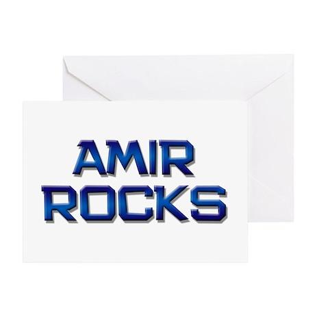 amir rocks Greeting Card