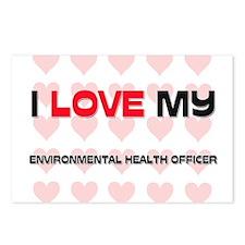 I Love My Environmental Health Officer Postcards (