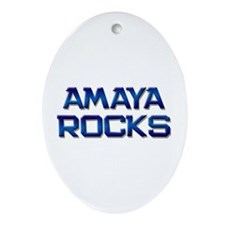 amaya rocks Oval Ornament
