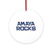 amaya rocks Ornament (Round)