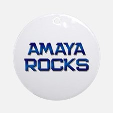 amaya rocks Ornament (Round)