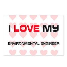 I Love My Environmental Engineer Postcards (Packag