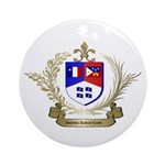 Authentic ACADIAN-CAJUN Crest Ornament (Round)