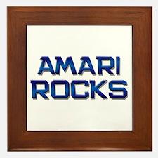 amari rocks Framed Tile