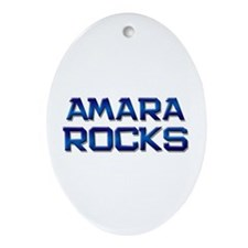 amara rocks Oval Ornament