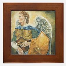 Unique St michael Framed Tile