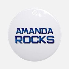 amanda rocks Ornament (Round)