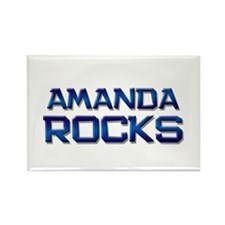 amanda rocks Rectangle Magnet