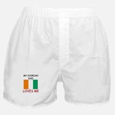 My IVORIAN DAD Loves Me Boxer Shorts