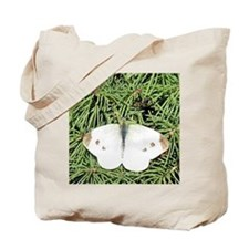 White Cabbage Butterfly Tote Bag<>Photo Front Only