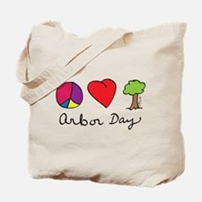 Peace, Love & Trees Tote Bag