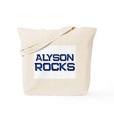 alyson rocks Tote Bag