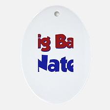 Big Bad Nate Oval Ornament