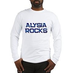 alysia rocks Long Sleeve T-Shirt