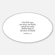 NUMBERS 32:26 Oval Decal