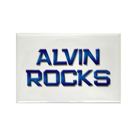 alvin rocks Rectangle Magnet