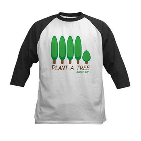 Plant A Tree - Arbor Day Kids Baseball Jersey