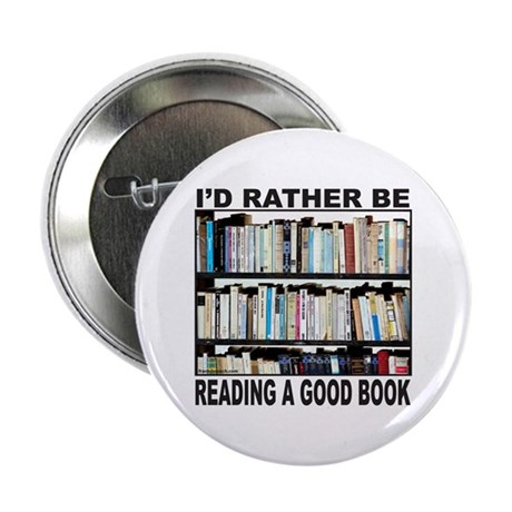 """BOOK LOVER 2.25"""" Button (100 pack)"""