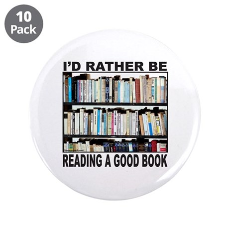 "BOOK LOVER 3.5"" Button (10 pack)"
