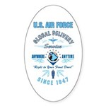 Air Force Delivery Oval Sticker