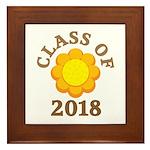 Sunflower Class Of 2018 Framed Tile