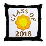 Sunflower Class Of 2018 Throw Pillow