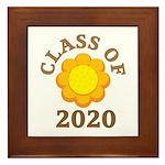 Sunflower Class Of 2020 Framed Tile