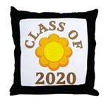Sunflower Class Of 2020 Throw Pillow